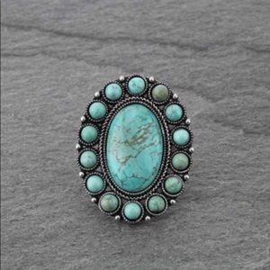 Turquoise Natural Stone Adjustable Ring
